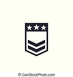 Military rank vector badge