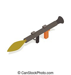 Military rifle anti tank rocket grenade gun icon