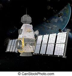 Military Satellite - 3D Render