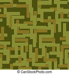 Military seamless pattern. Army abstract texture. camouflage ornament for soldiers. Green soldiery background. war khaki for hunters and troops