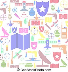 military seamless pattern background icon.