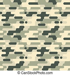 Military Seamless Pattern. Camouflage Background. Camo Fashion Texture. Army Uniform. Vector illustration