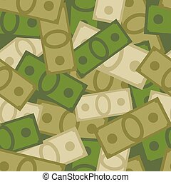 Military seamless pattern of money. Soldiers background from Dollars. Vector Camouflage of cash. Protective ornament for army troops form for businessmen