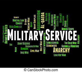 Military Service Indicates Armed Forces And Battle