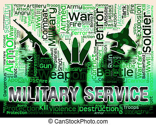 Military Service Means Defense Forces And Army