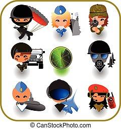 military set, icon