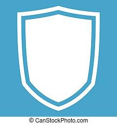 Military shield icon white