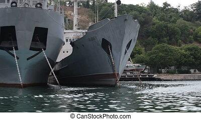 military ship in  bay of Sevastopol