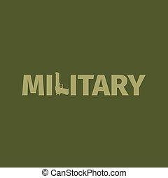 Military shop logo with gun