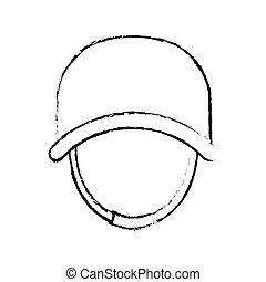 Military silhouette with his protective helmet