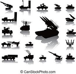 Military silhouettes - Anti-aircraft warfare silhouettes...