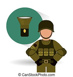Military soldat design , vector illustration