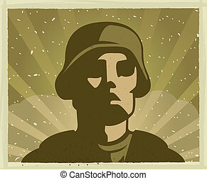 Military Soldier - An illustration of a military soldier.