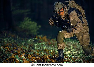 Military Special Operation - Night Time Special Operation. ...