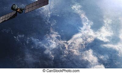 Military spy satellite in Orbit.