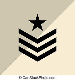 Military star design , vector illustration