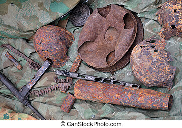 Military still life - Still life of old military weapons...