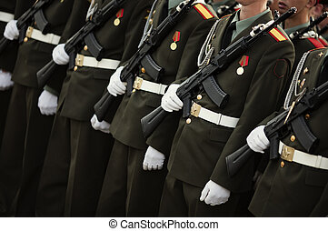 Military - Armed forces concept , selective focus