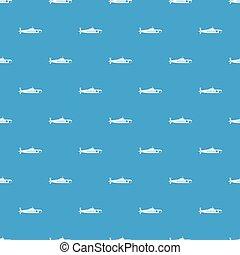 Military submarine pattern seamless blue
