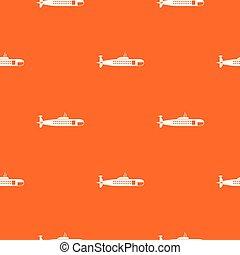 Military submarine pattern seamless