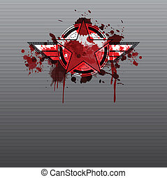 military symbol with blood