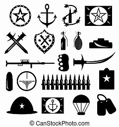 military symbols vector illustration