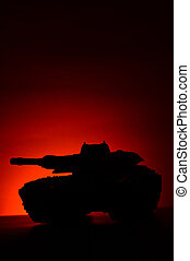 Military Tank At Sunset
