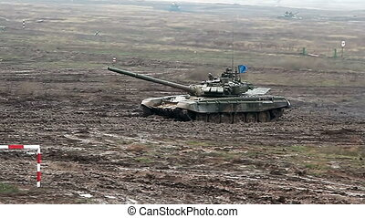 Military tank biathlon competition