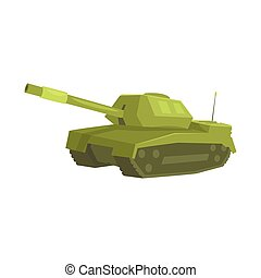 Military tank cartoon vector Illustration