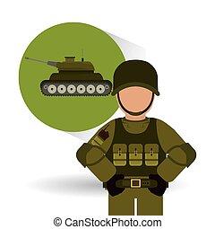 Military tank design , vector illustration