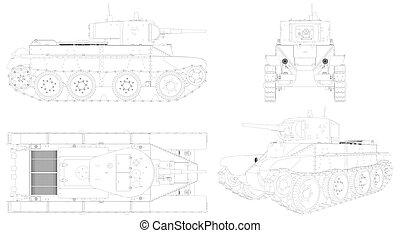 Military Tank Vector 05.eps