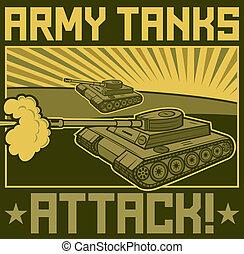 military tanks poster