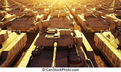 Military Tanks, Seamless Loop