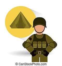 Military tent design , vector illustration
