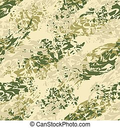 Military texture. Army seamless pattern. Ornament for soldiers clothes. Military green pattern. Splatter brush. Hacks ornament. Texture for fabrics for soldiers and hunters