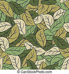 Military texture leaves. Army camouflage of foliage. Seamless pattern for soldiers clothes. vector Protective  background