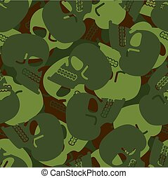 Military texture skull. Army Skeleton seamless texture. Soldiers death background. protective pattern hunt