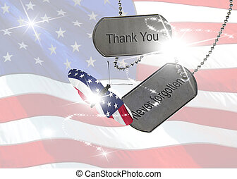 Military tribute on tags