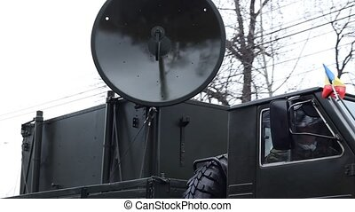 Military Truck Radio Device - Army communication radio unit...