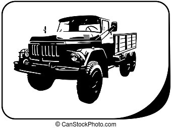 military truck veteran - Vector illustration truck suitable...