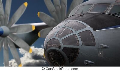 aircraft in flight - military turboprop aircraft in flight