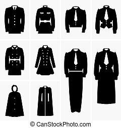 Military uniforms - Set of Military uniforms