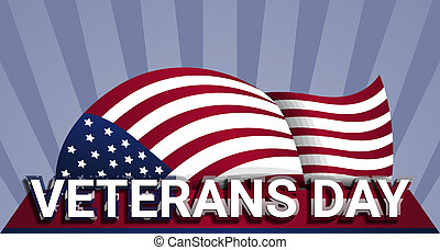 Military us veterans day concept background, realistic style