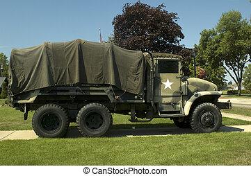 Military Vehicle on Display.