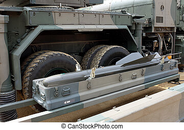 Military vehicle with missile