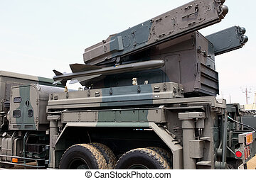 Military vehicle withmissile