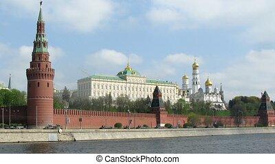 Military vehicles at Victory Day Parade near Kremlin