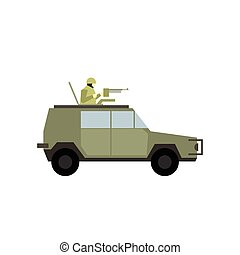 Military war car flat icon