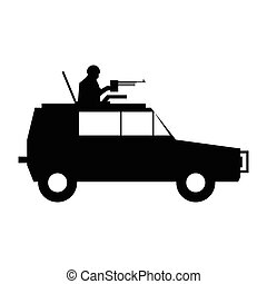 Military war car simple icon