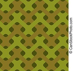 Military weaving seamless pattern. Army abstract plexus texture. camouflage ornament for soldiers. Green soldiery background. war khaki for hunters and troops